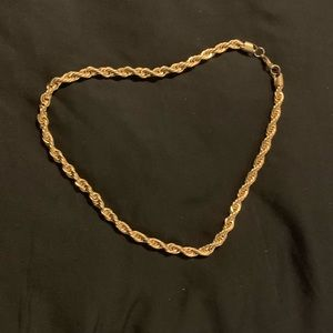 """26"""" rope chain thick stainless steel gold"""